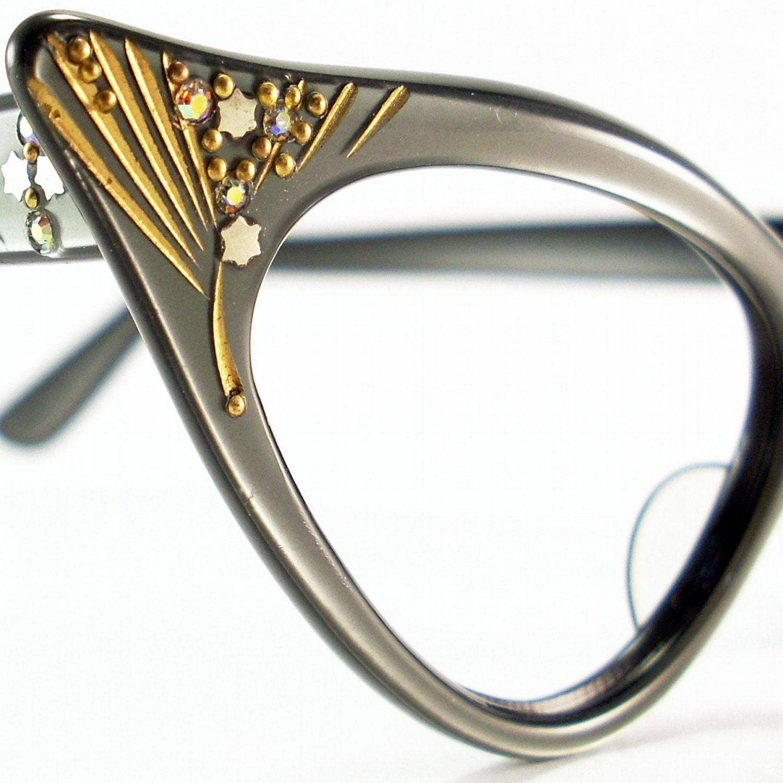 Vintage 50s Frame France Cat Eye Glasses by ...