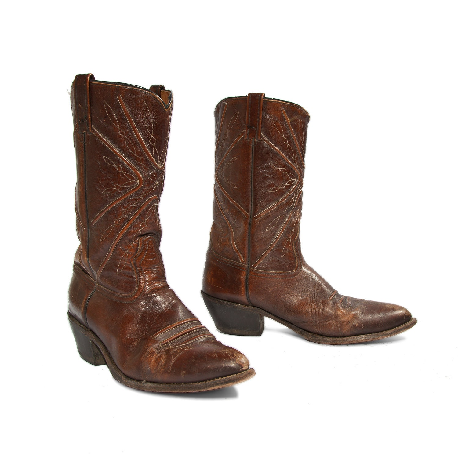 mens cowboy boots fall fashion brown leather by nashdrygoods