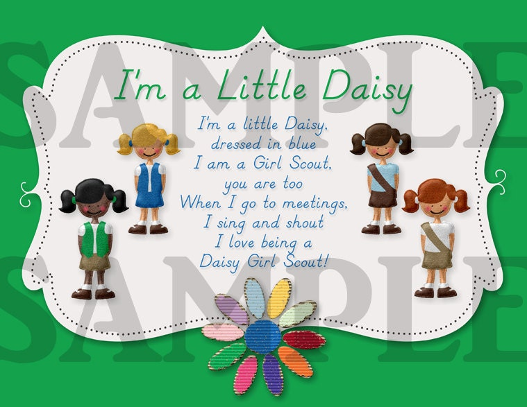 Lucrative image with regard to girl scout daisy song printable