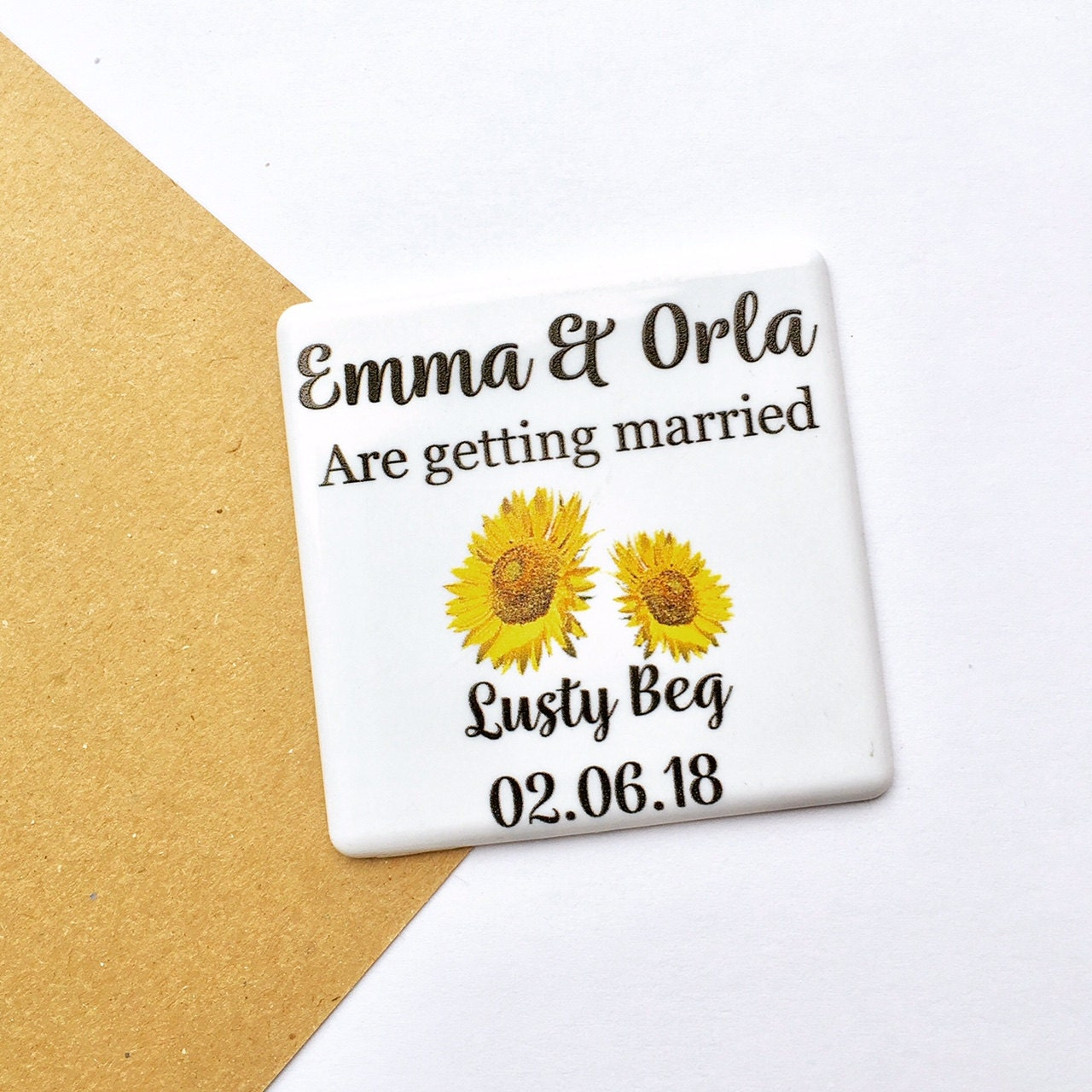 Sunflower Save The Date  Floral save the date  Save The Date Magnet   Save The Dates  Wedding Announcement  16STD