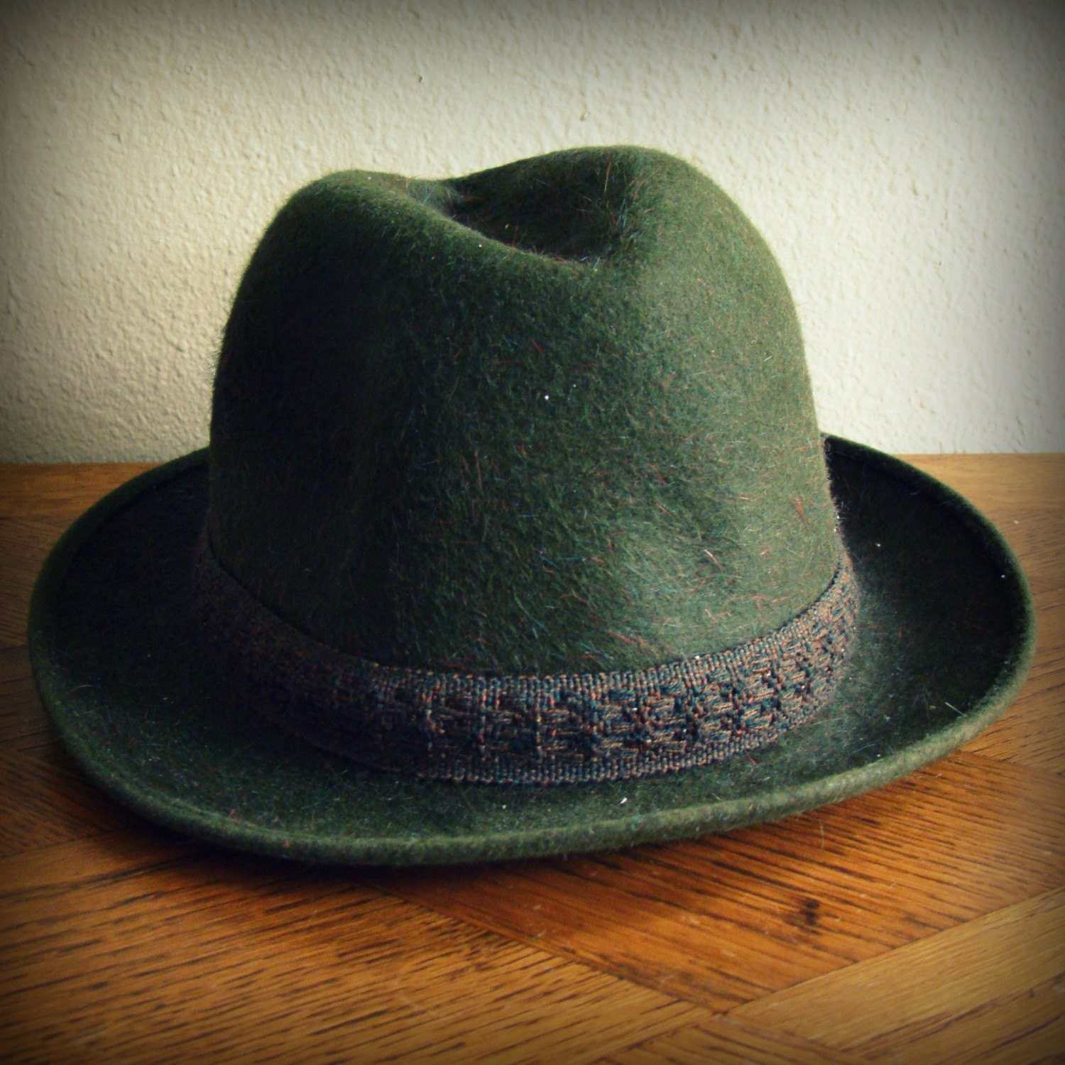 50s Vintage Forest Green Fedora