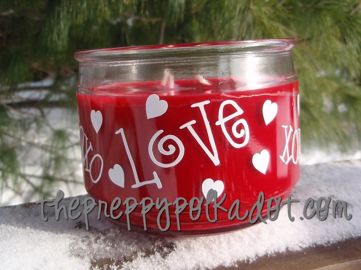Valentine LOVE 3 wick Candle
