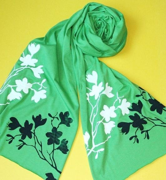 Tiger Lily Jersey Scarf - Screen Printed