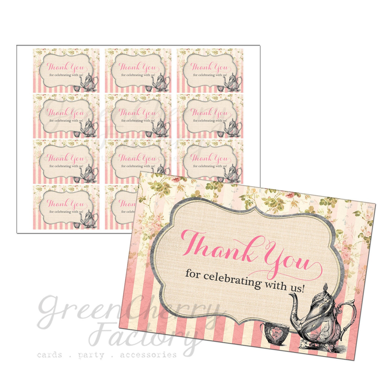 Wedding Gift Tag Wording : Tea Party Favor Tag - One Custom Wording - Bridal Shower Favor Tag ...