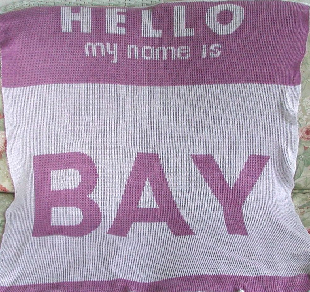 Eco-Friendly Bamboo Knit Personalized Baby Blanket