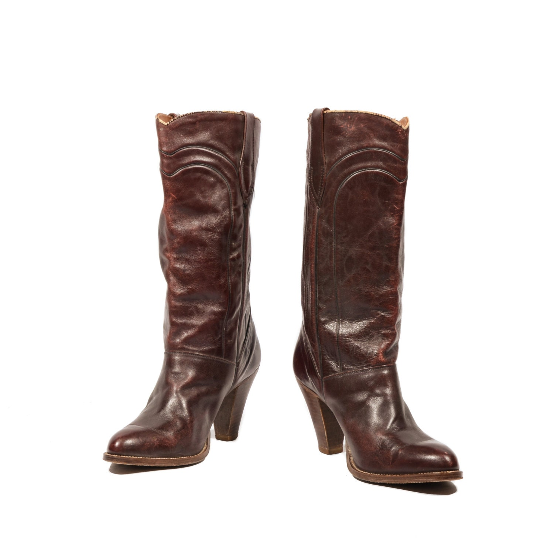 9 5 m s 1970 s vintage high heel cowboy by nashdrygoods