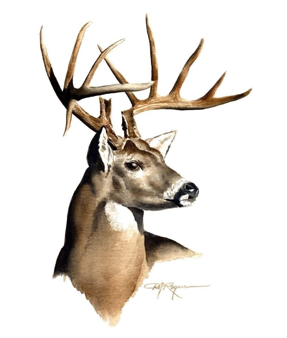 Sizzling image for printable deer head