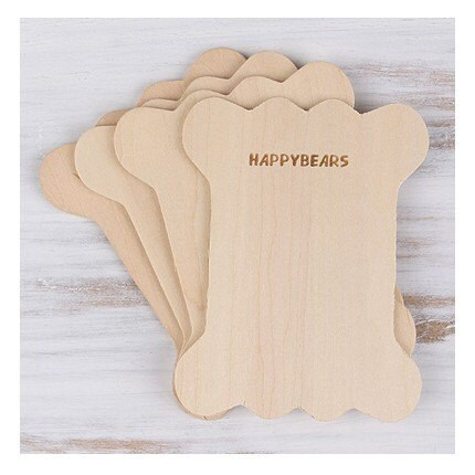 Set of 4 wood Bobbin Set - happybears