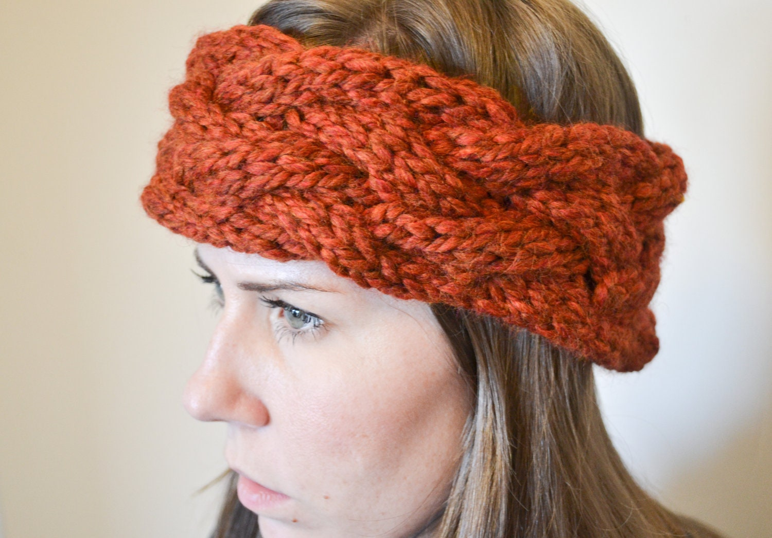 Chunky Cable Knit Headband Pattern : Unavailable Listing on Etsy