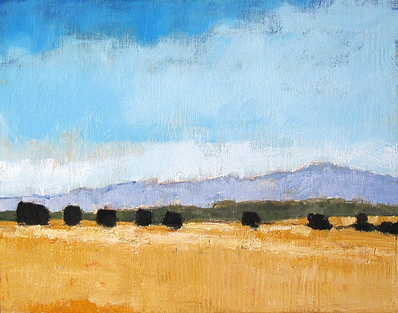 Farms in Santa Barbara, California Original Landscape Painting