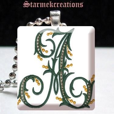 Handmade Scrabble tile art pendant Custom by starmekcreations from etsy.com