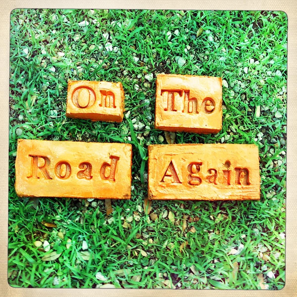 Willie Nelson On The Road Again Garden Stones