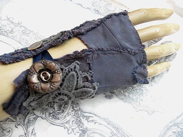 Throw Down the Gauntlet. Embellished Glovelette.