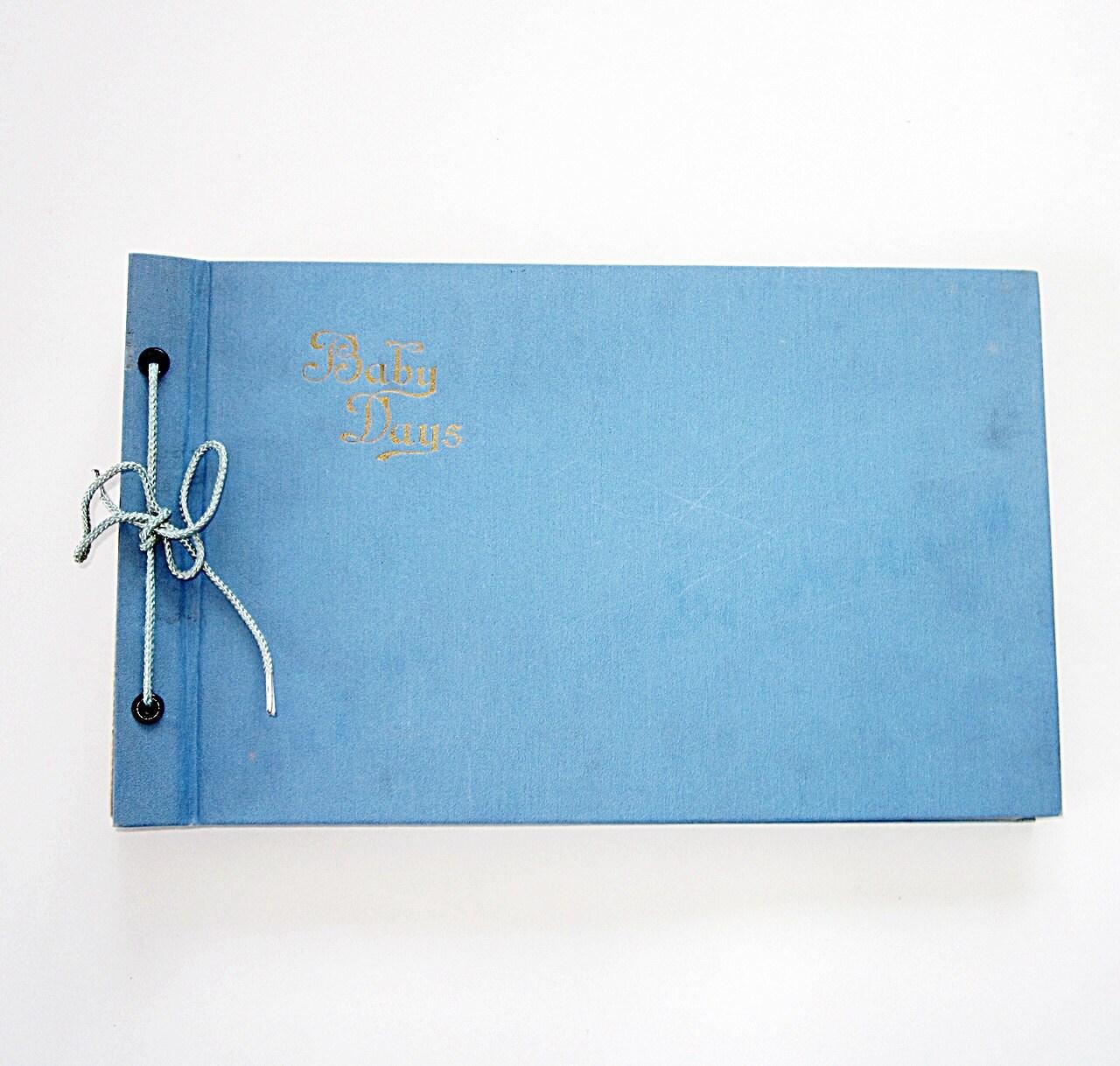 Vintage Blue Baby Book 1950s - Unused
