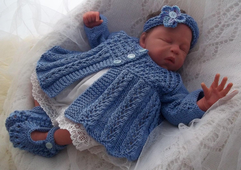 Knitting Pattern For Baby Girl Headbands : Baby Girls or Reborn Dolls Instant Digital Download PDF Knitting Pattern - Ma...