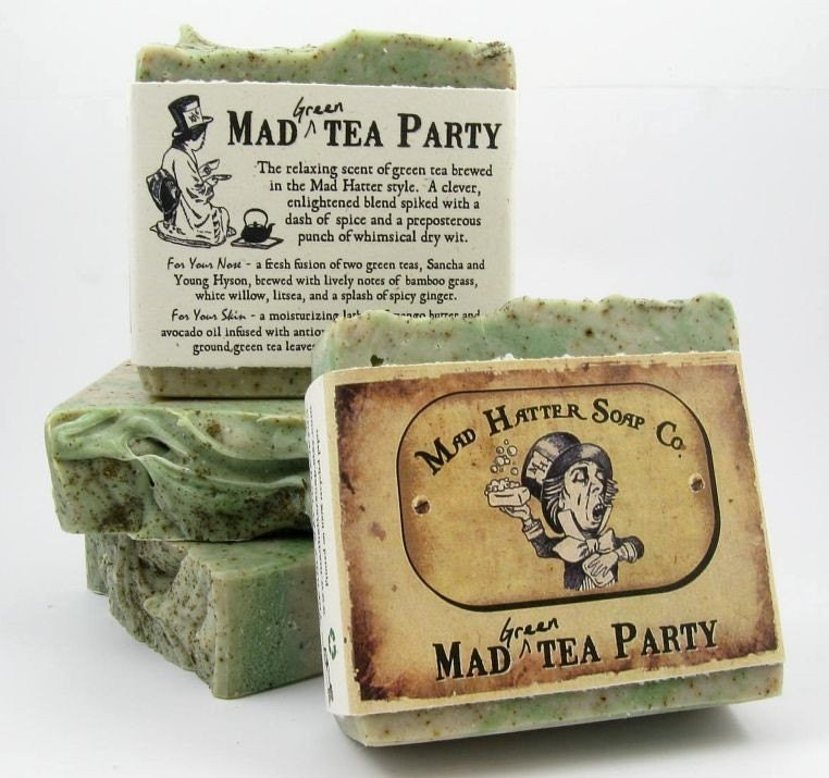 MAD GREEN TEA PARTY - handmade soap from Mad Hatter Soap Co.
