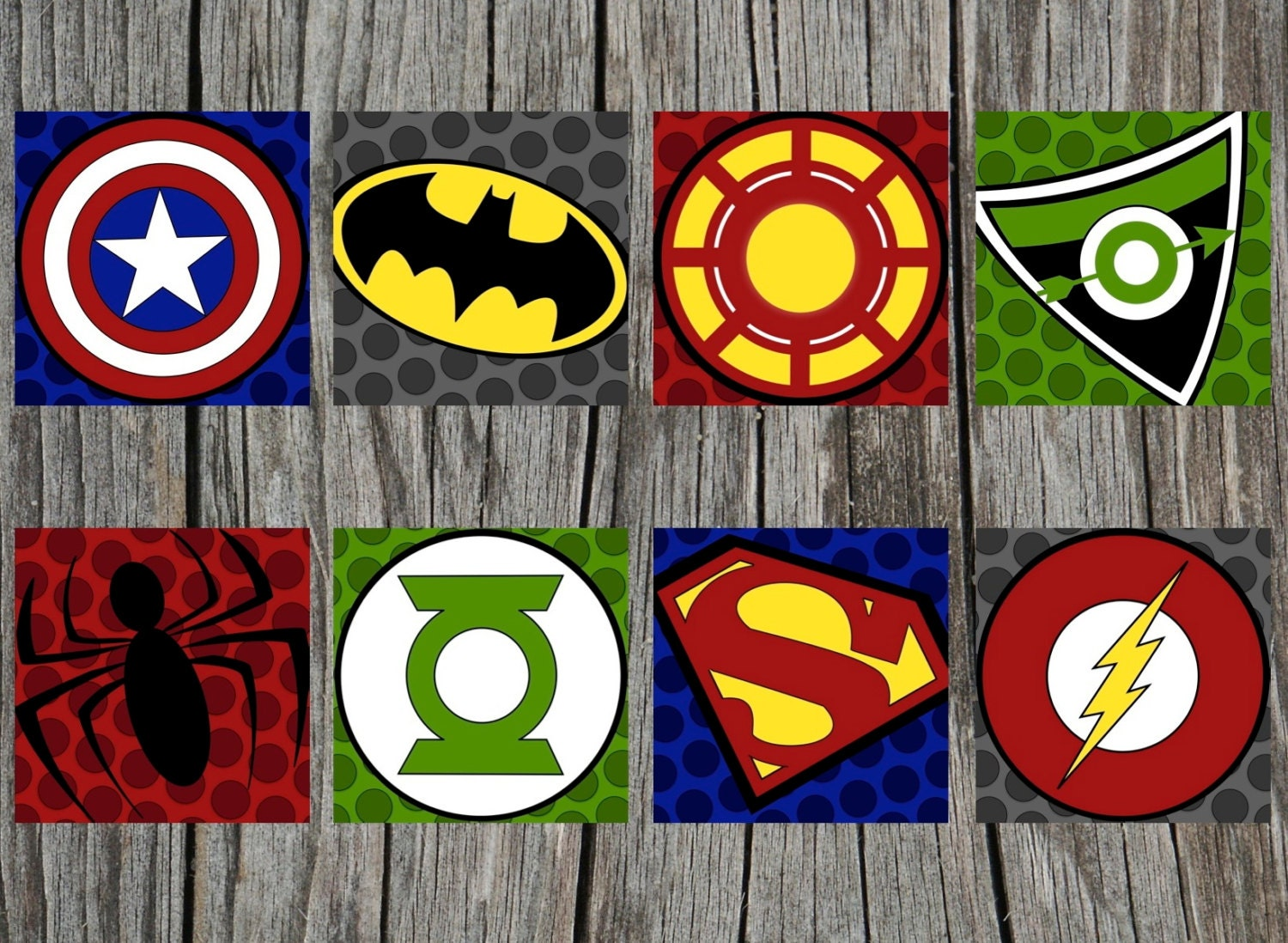It is a picture of Genius Superhero Logos Printable