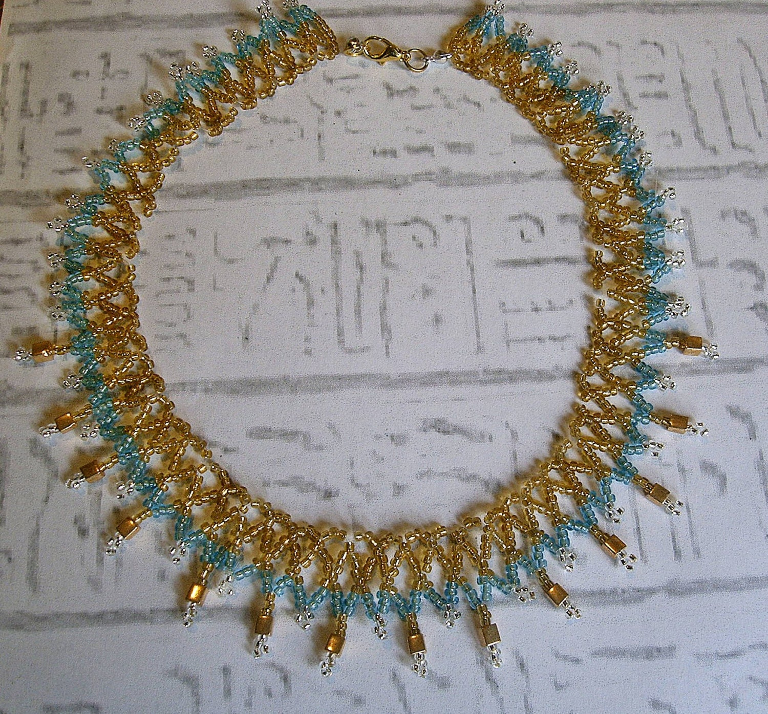 Egyptian collar. Cleopatra necklace. Egyptian jewelry. - EgyptianInspirations