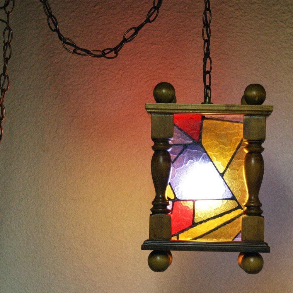 vintage hanging light hanging lamp chain cord by oldcottonwood. Black Bedroom Furniture Sets. Home Design Ideas