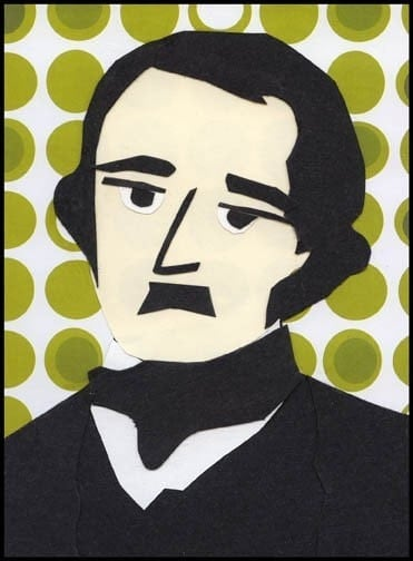 Edgar Allan Poe collage print