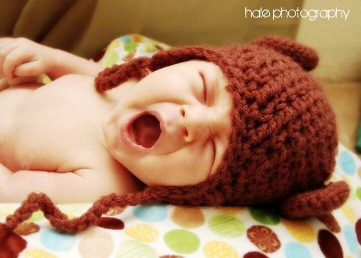 Шоколад бурый медведь Уши Вязаные шапочки-ушанки - нестандартный формат