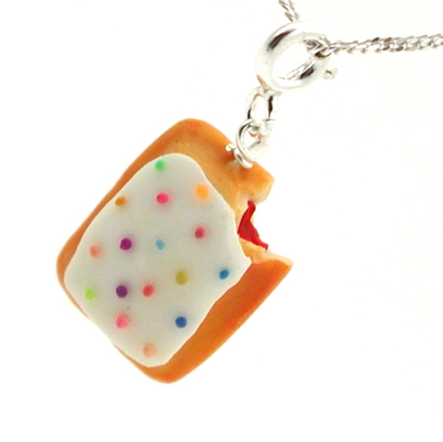 Toaster pastry necklace by inediblejewelry on Etsy