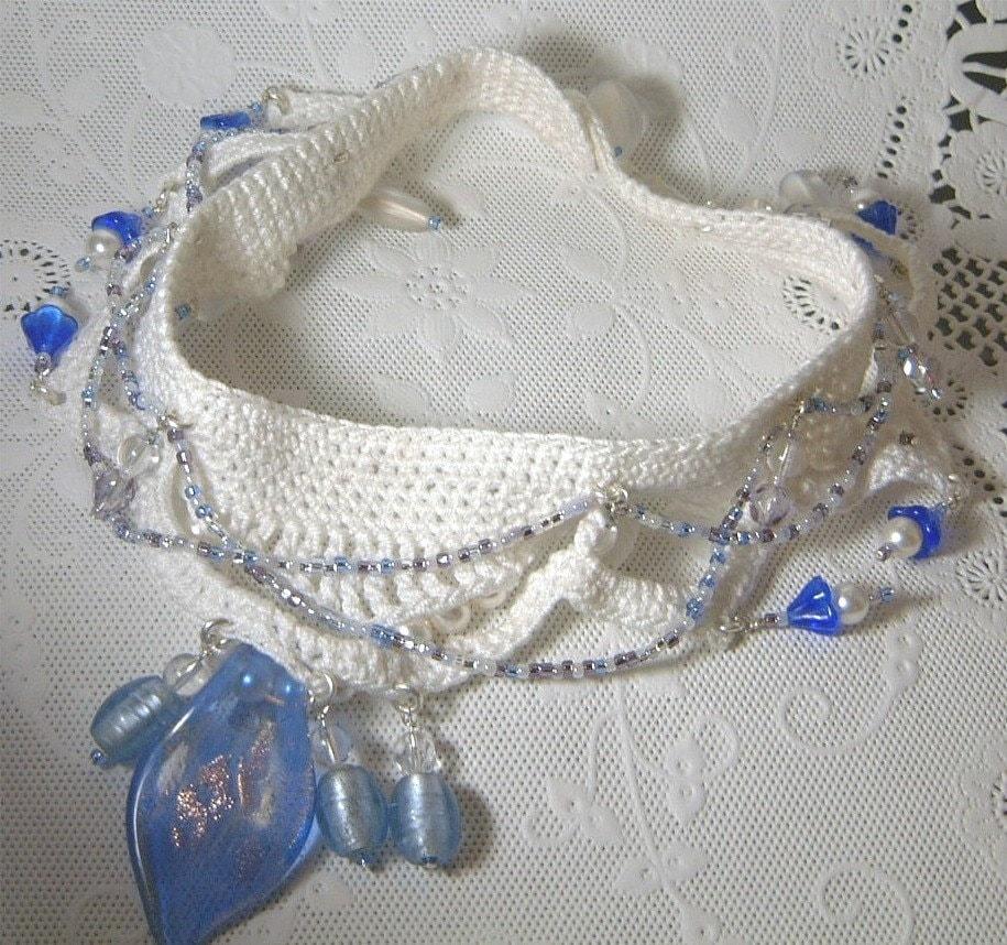 Thread Crochet Beaded Choker AWARD WINNER