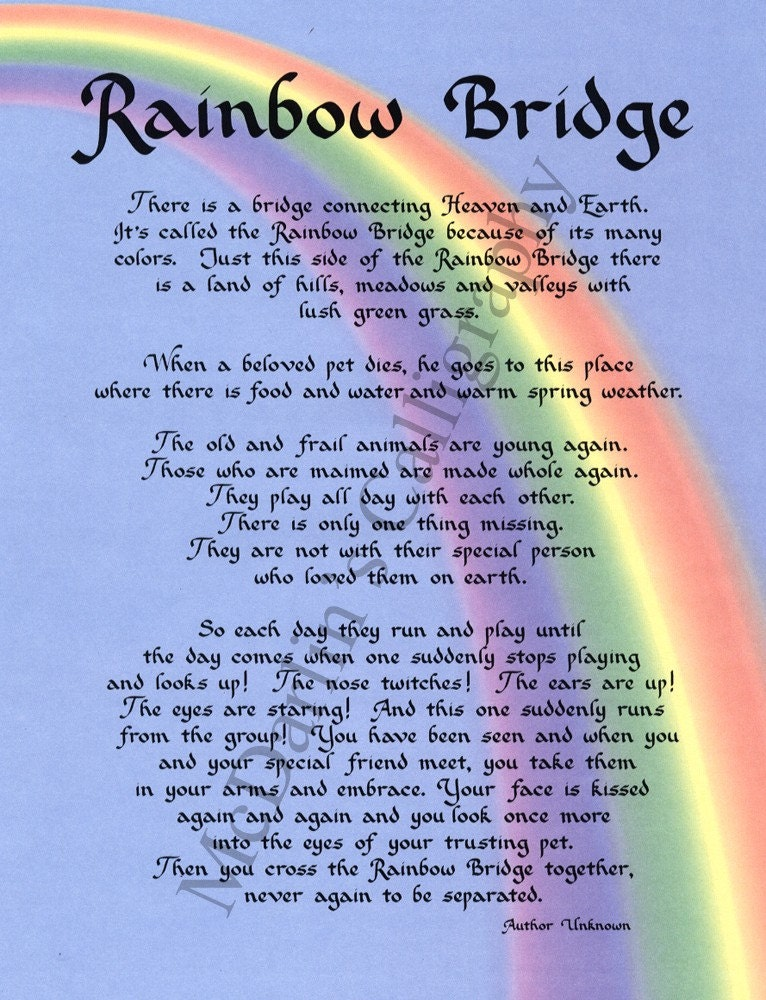 rainbow bridge poem print sybc7N9h