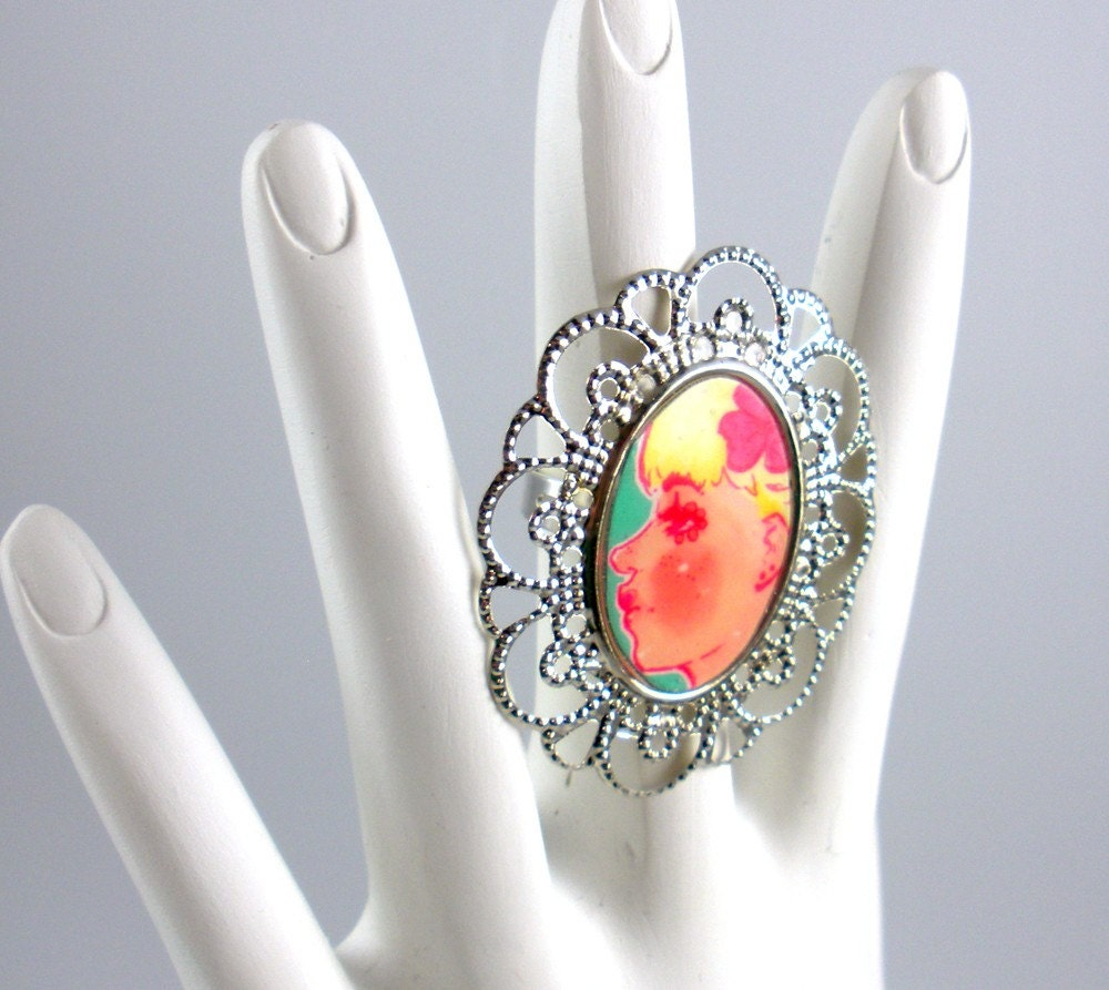SALE Blondie Profile Fancy Frame Ring