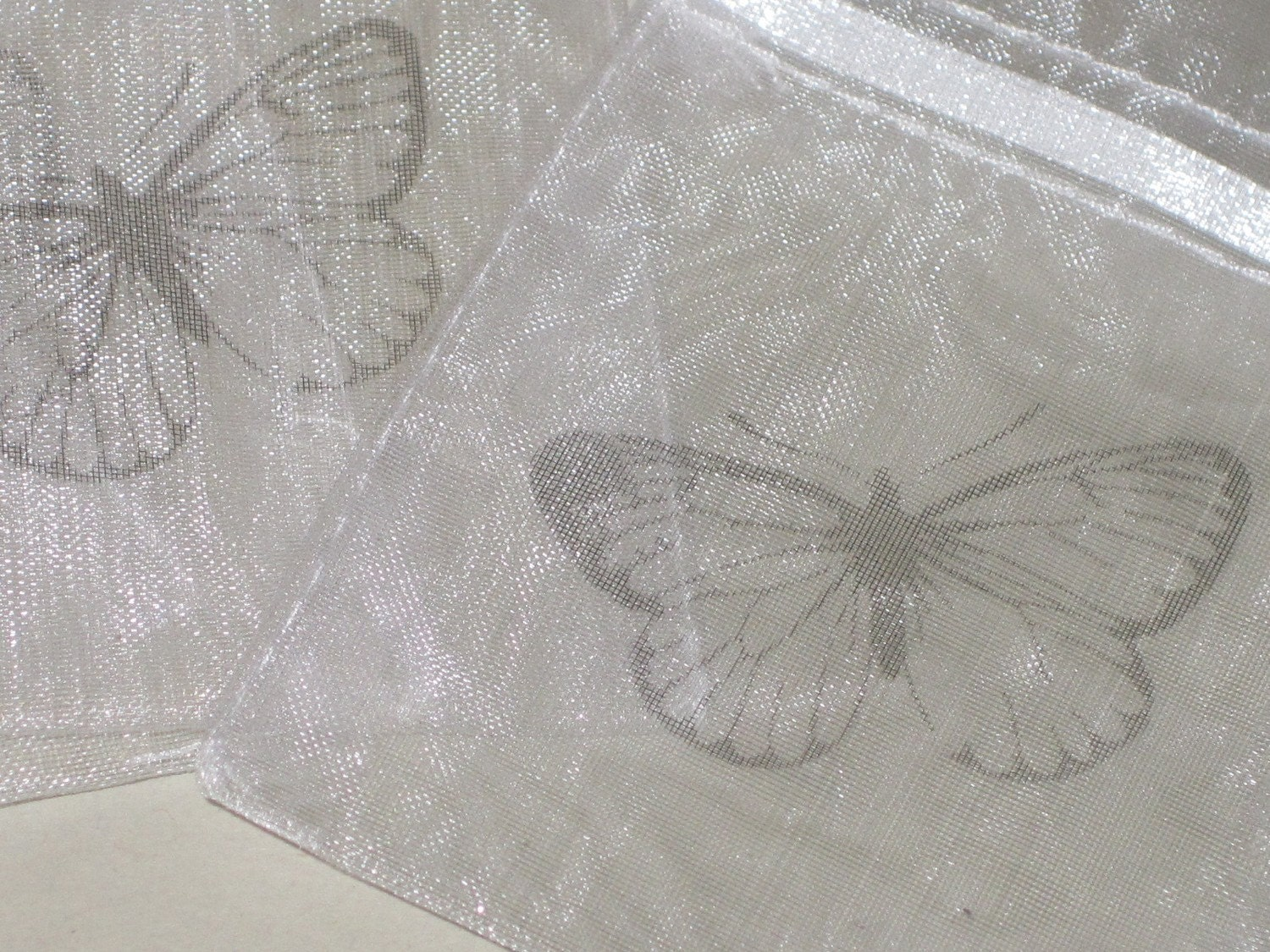 Petite Butterfly Organza Drawstring Bags/Favor Bags