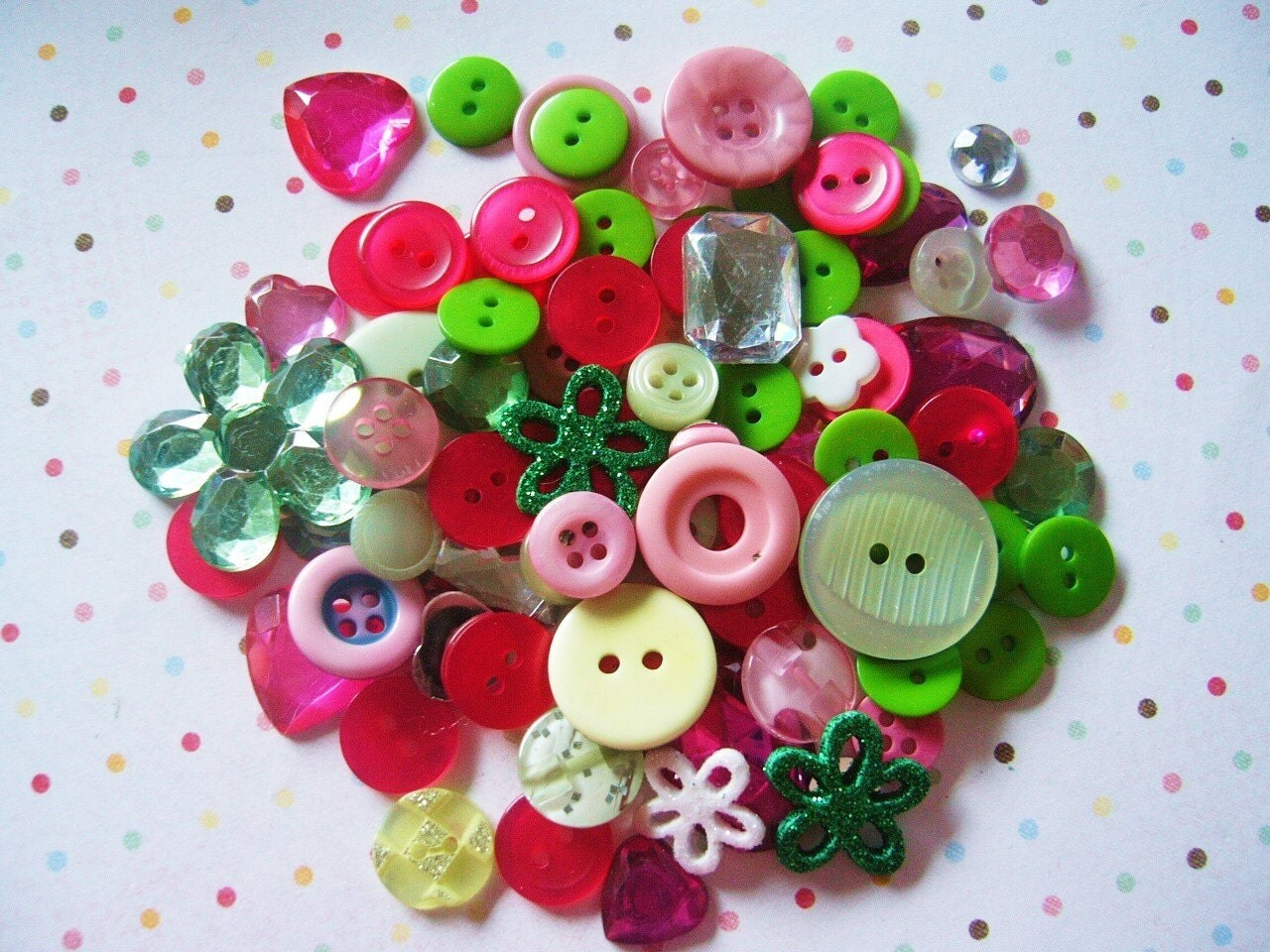 RESERVED for Rachel Pretty Button and Rhinestone Mixes CUSTOM