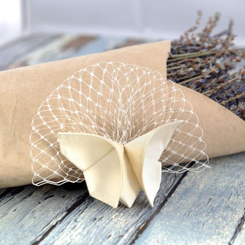 Shades of White Wedding Barrette Silk Origami Butterfly Hair Clip 100 Custom