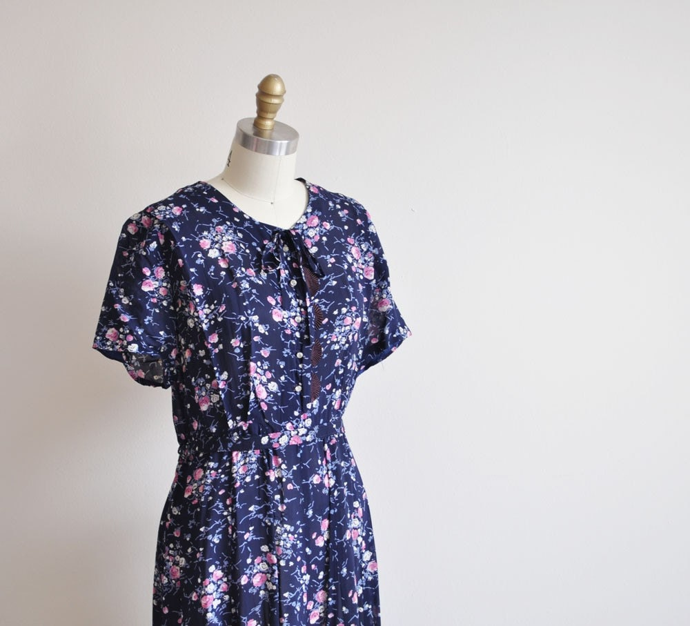 40s floral swing dress