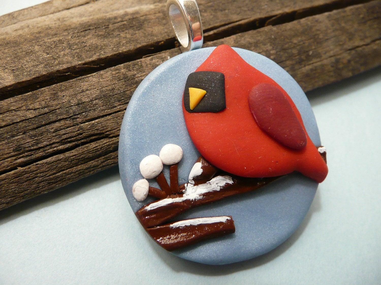 Holiday Home Decor Bird Cardinal Christmas Ornament By