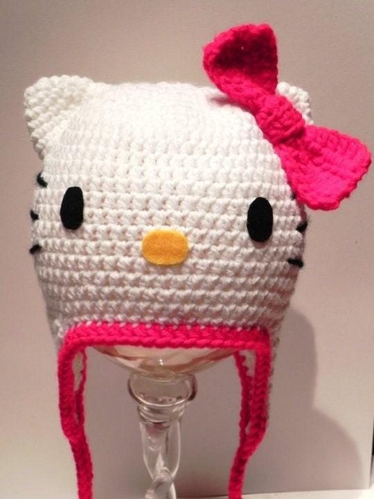 Hello Kitty Crochet Hat Babygaga