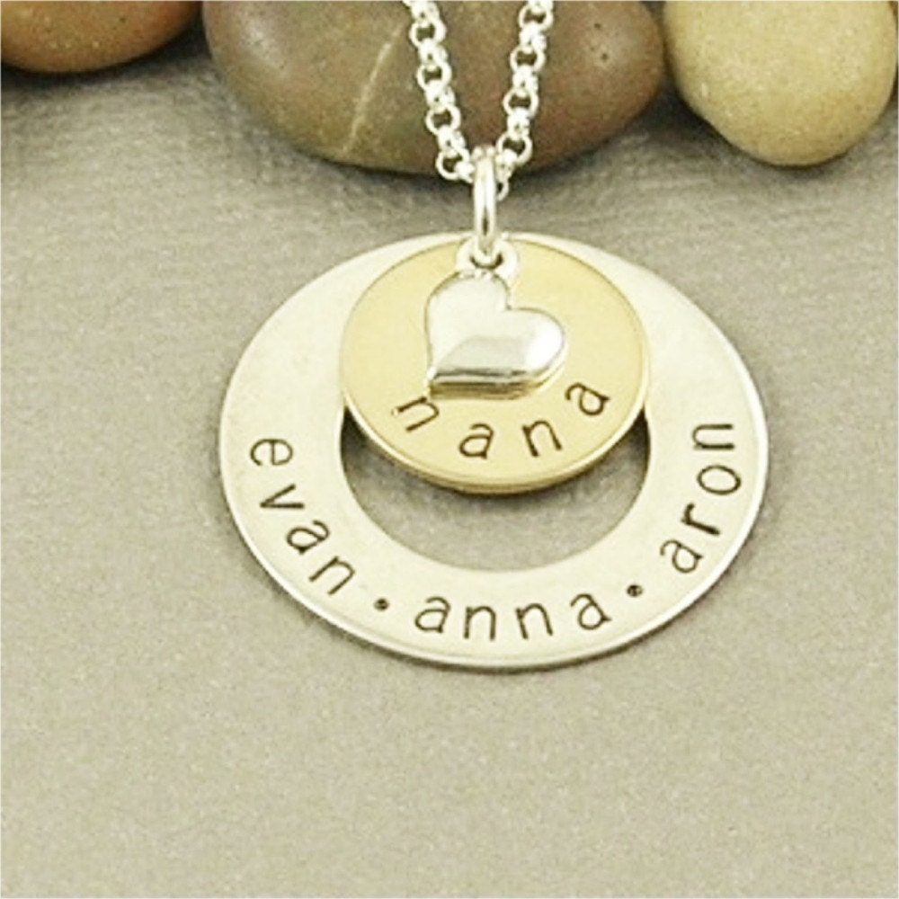 nana necklace personalized sted by bawsteddesigns