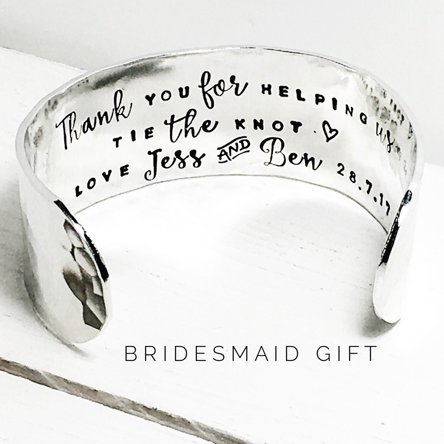 Bridesmaid gift  Bridesmaid gift ideas  Personalized Bridesmaids  Gift ideas for Bridesmaids Thank you for helping us tie the knot (W270)