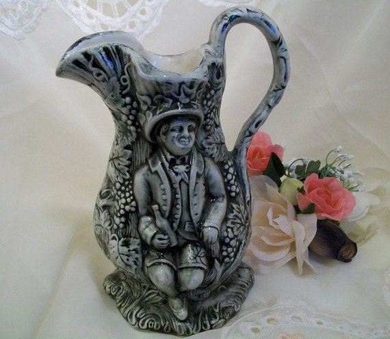 Hobbits and Wine Ceramic Pitcher, Vase, and  Planter