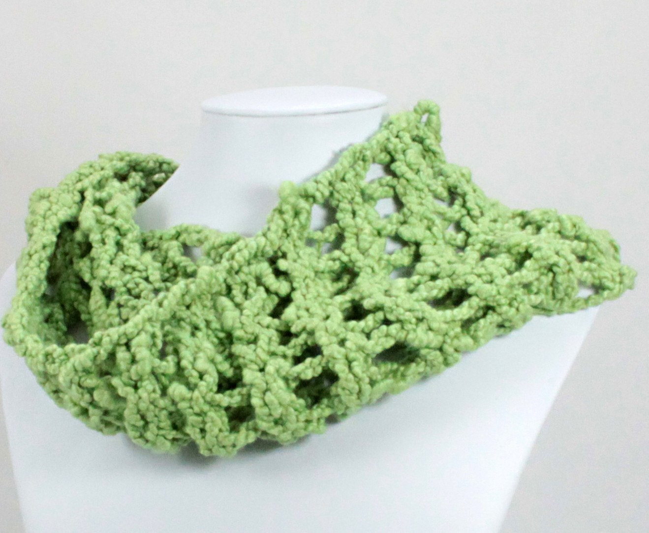 EcoCessory Soft and Cuddly Cotton Cowl - Spring Green