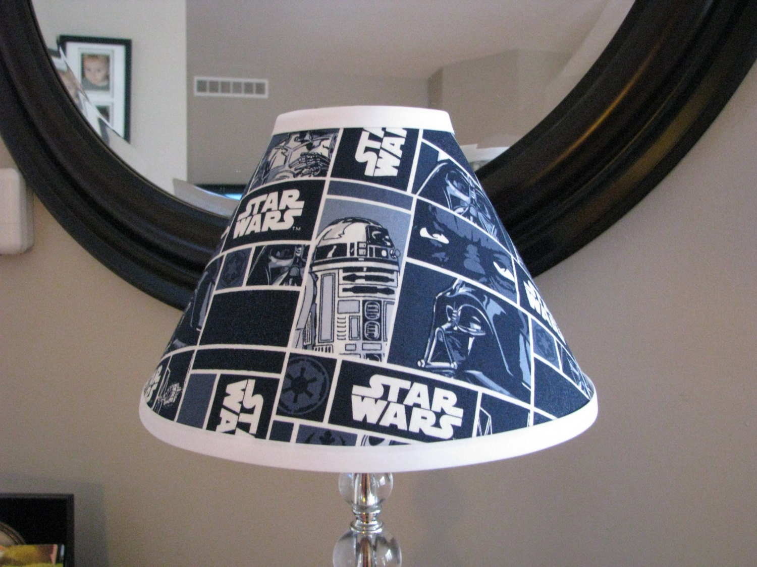 star wars lamp shade by zacharydickorydock on etsy. Black Bedroom Furniture Sets. Home Design Ideas