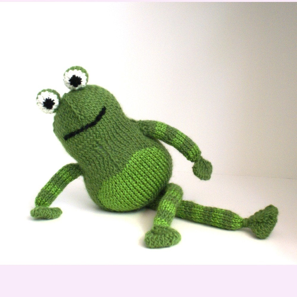 Rupert the Handmade Knit Frog