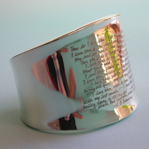 sterling silver cuff bracelet that carries a subtle message