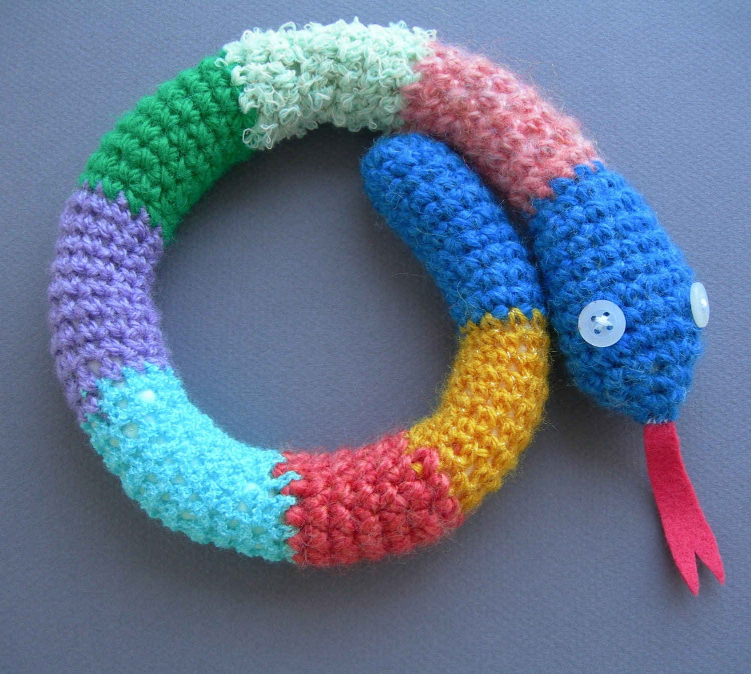 Crocheted snake