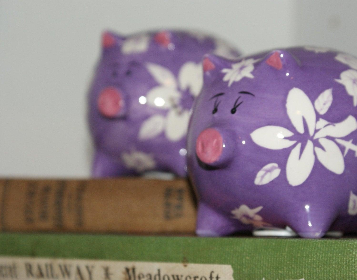 Vintage Hawaiian Pua'a (piggy) Banks