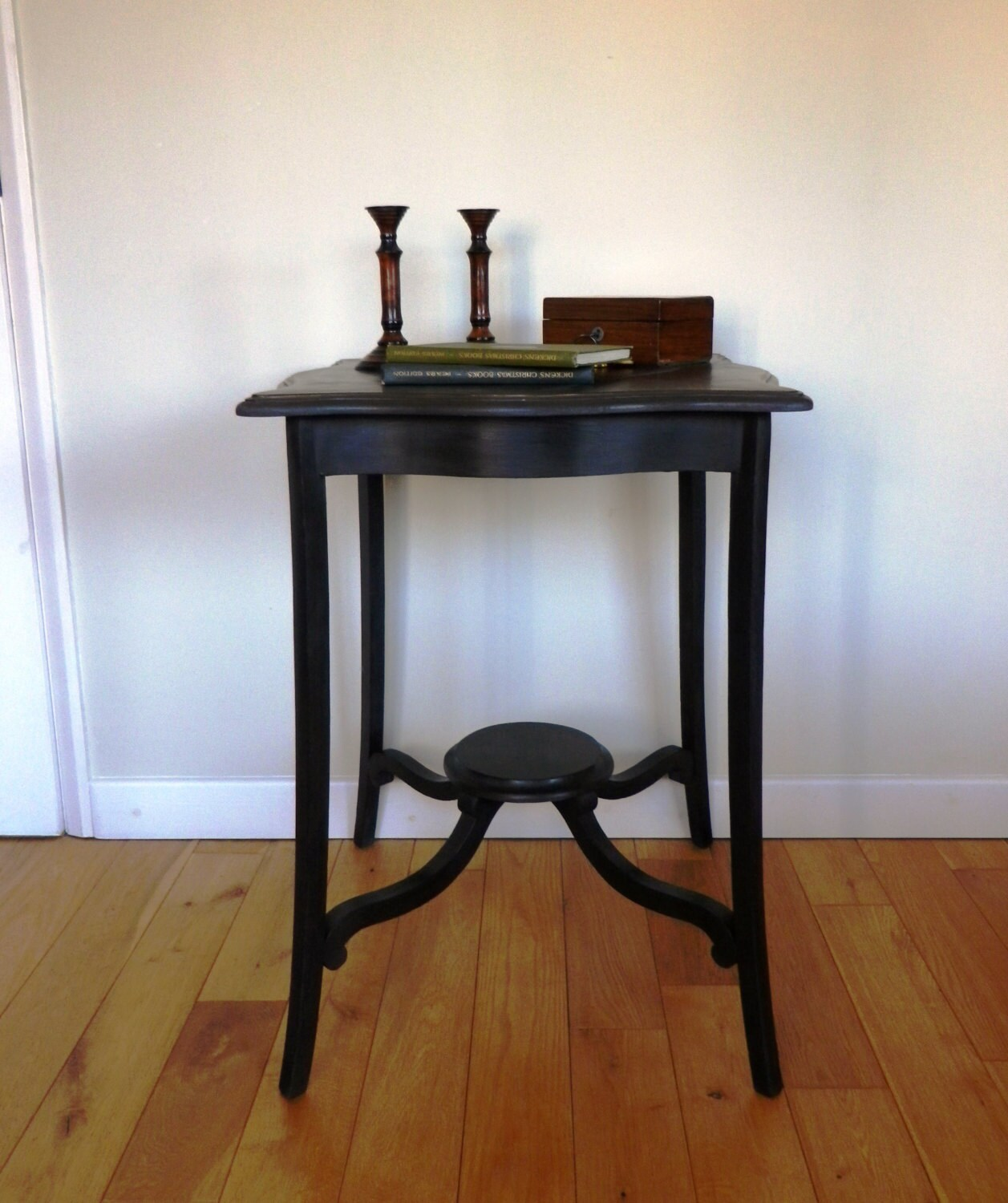 Edwardian Mahogany Painted Occasional Table  Antique Table