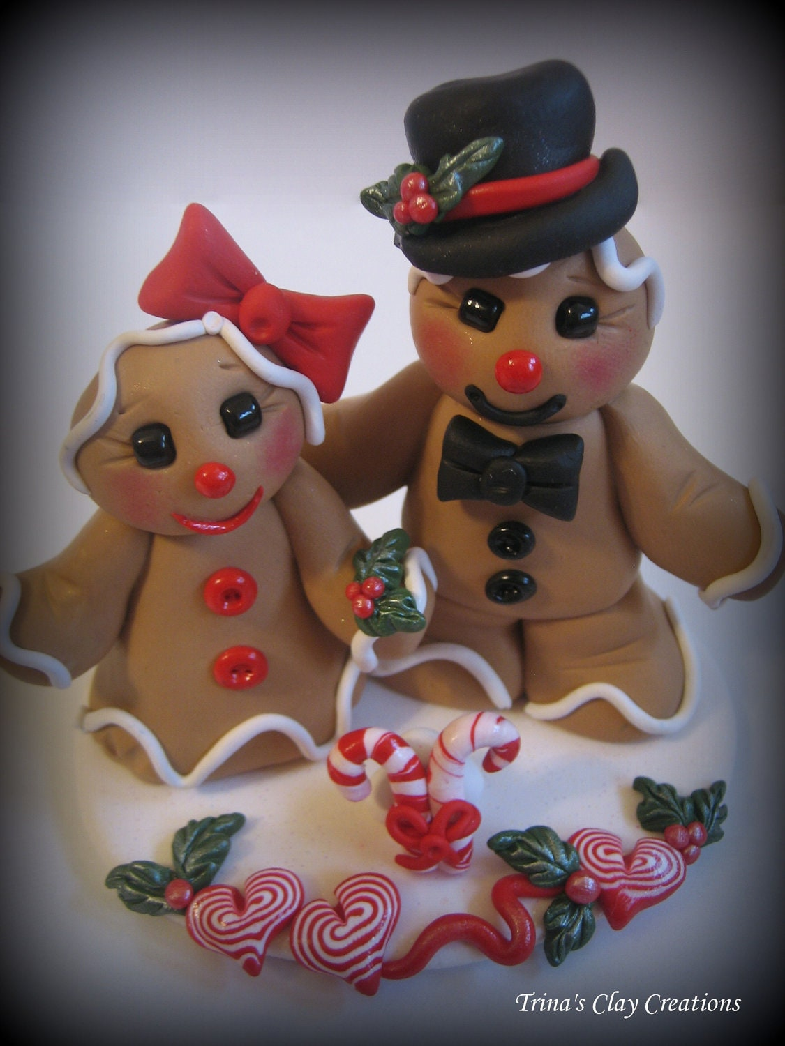 Wedding Cake Topper, Custom Cake Topper, Gingerbread Man, Gingerbread Cake Topper, Holiday Cake Topper