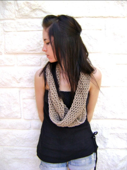 Mobius Summer Scarf PATTERN Shown in by sheilalikestoknit