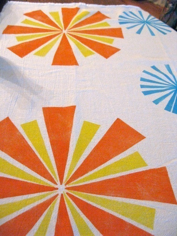 Starburst Flour sack Dishtowel tea towel