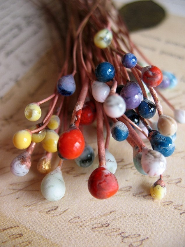 Enameled Headpins in Your Choice of Color - Set of 10