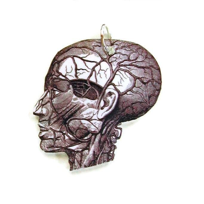 Necklace Anatomy Head Small Pendant - UniqueArtPendants